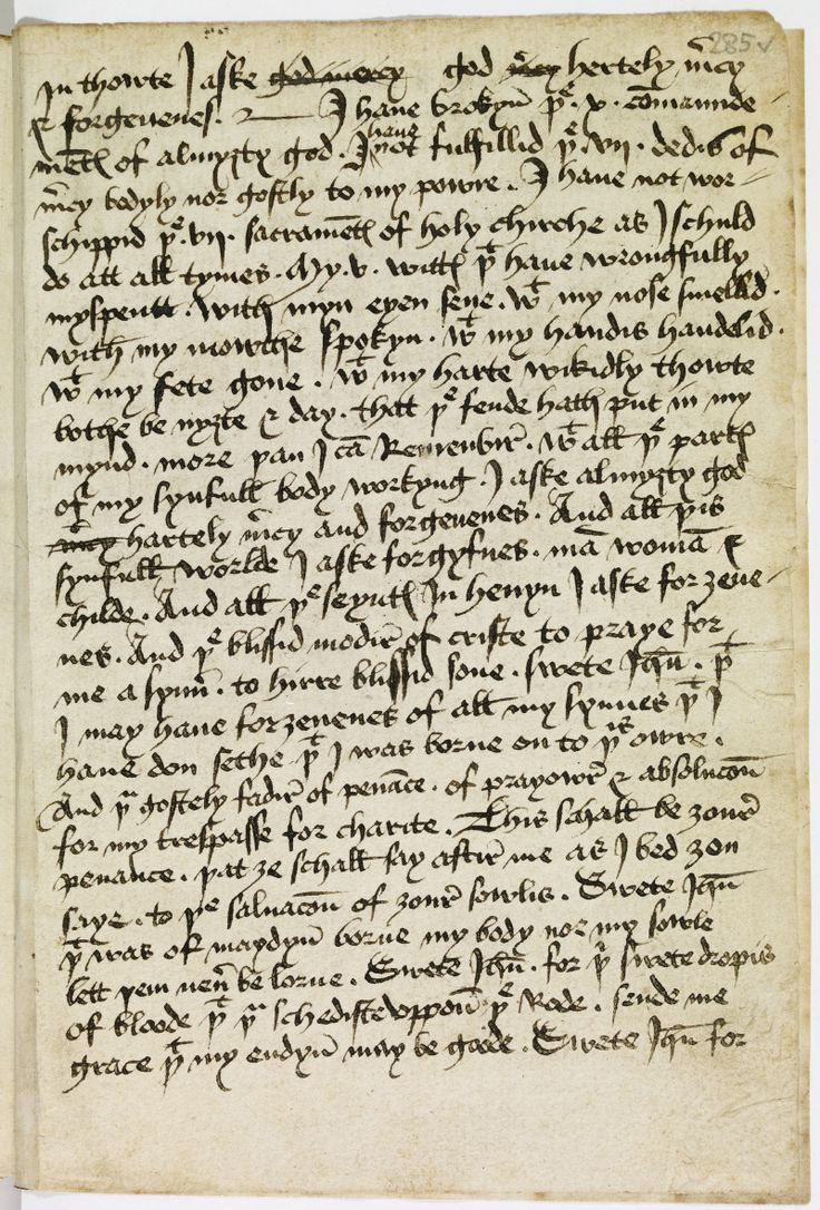 A document written in Middle English, which was spoken in England during the time period of the Black Death featured in The Heretic's Tomb and in the late fifteen century, which is  depicted in The Sorcerer's Letterbox. Research into the language was needed for both books. http://simon-rose.com/books/the-childrens-writers-guide/