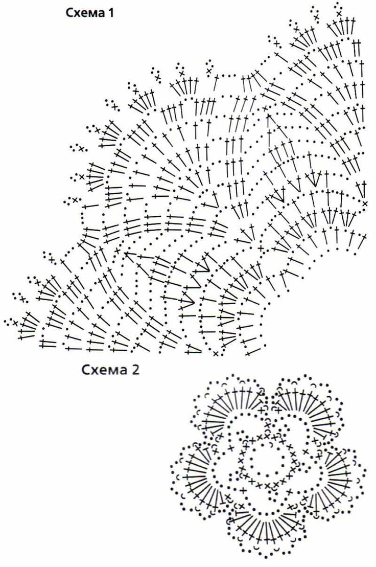 вязания крючком воротники схема