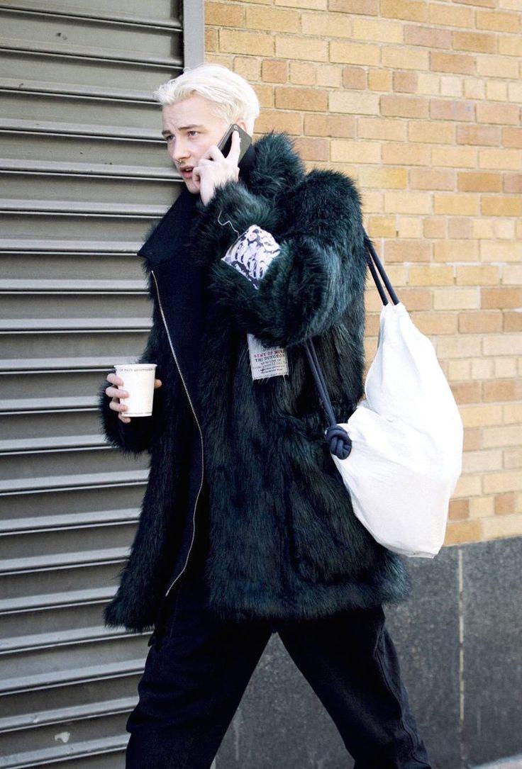 "justdropithere: ""Benjamin Jarvis - New York Fashion Week Street Style, FW15 """