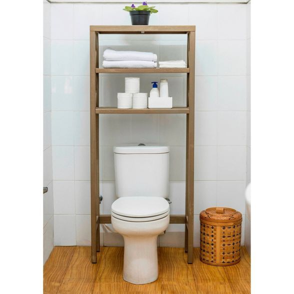 Owings Etagere Rustic Threshold In 2020 Bathroom Etagere Toilet Storage Toilet Shelves