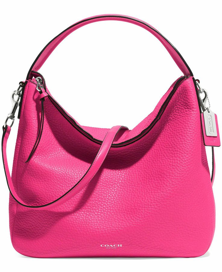 coach bleecker sullivan hobo in pebbled leather coach