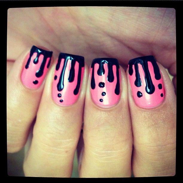 25 schne tropf ngel ideen auf pinterest perle nagelkunst galleries paint drip nails nails nailpolish nailart manicure prinsesfo Choice Image