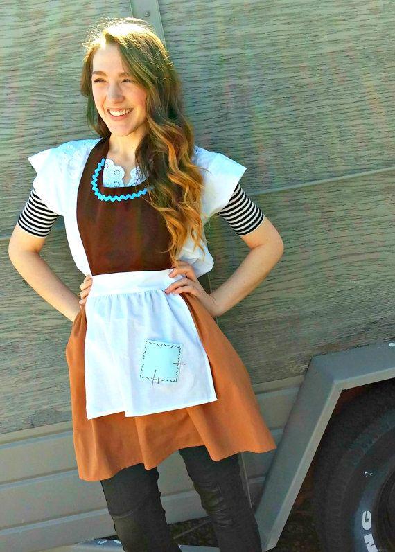女僕灰姑娘的工作服裝全圍裙的婦女。 迪士尼公主的啟發。 農民的僕人。 女主人新娘生日派對禮物。 尺寸0-22