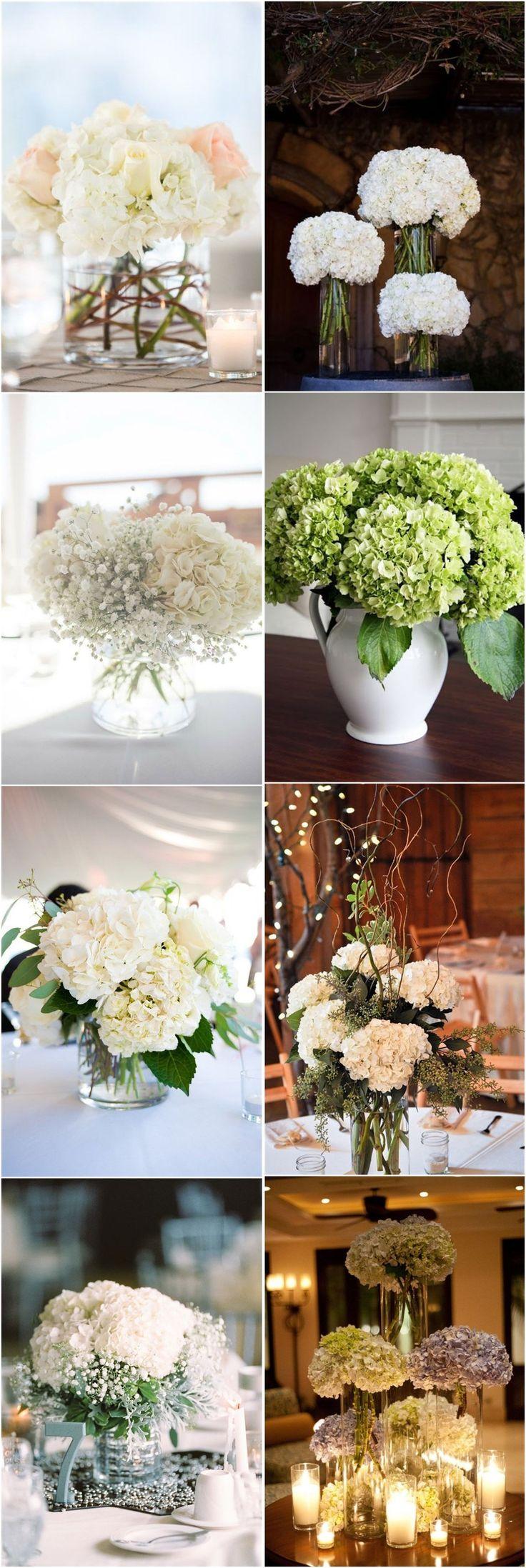 Best hydrangea wedding centerpieces ideas on pinterest