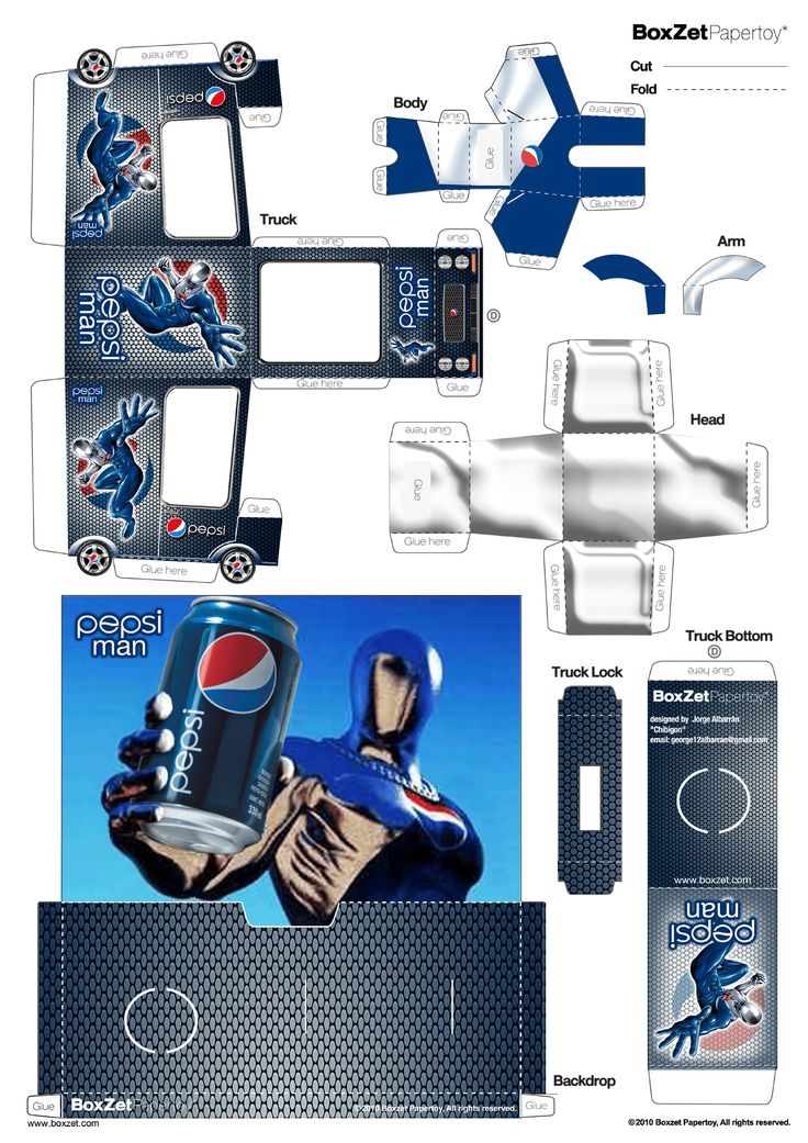 PaperToy_Pepsi Man BoxZet 2