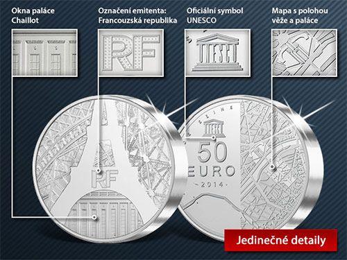 Stříbrná 5 uncová mince Eiffelova věž. První mince ze série mincí emitovaných prestižní francouzskou mincovnou Monnaie de Paris pod oficiální záštitou UNESCO. #eiffeltower #unesco #paris #monnaiedeparis