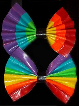 Another reason I fear ever having a girl.. my husband will totally make this..rainbow duct tape
