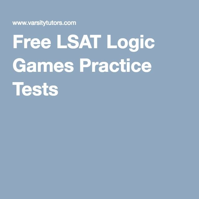 Free LSAT Logic Games Practice Tests