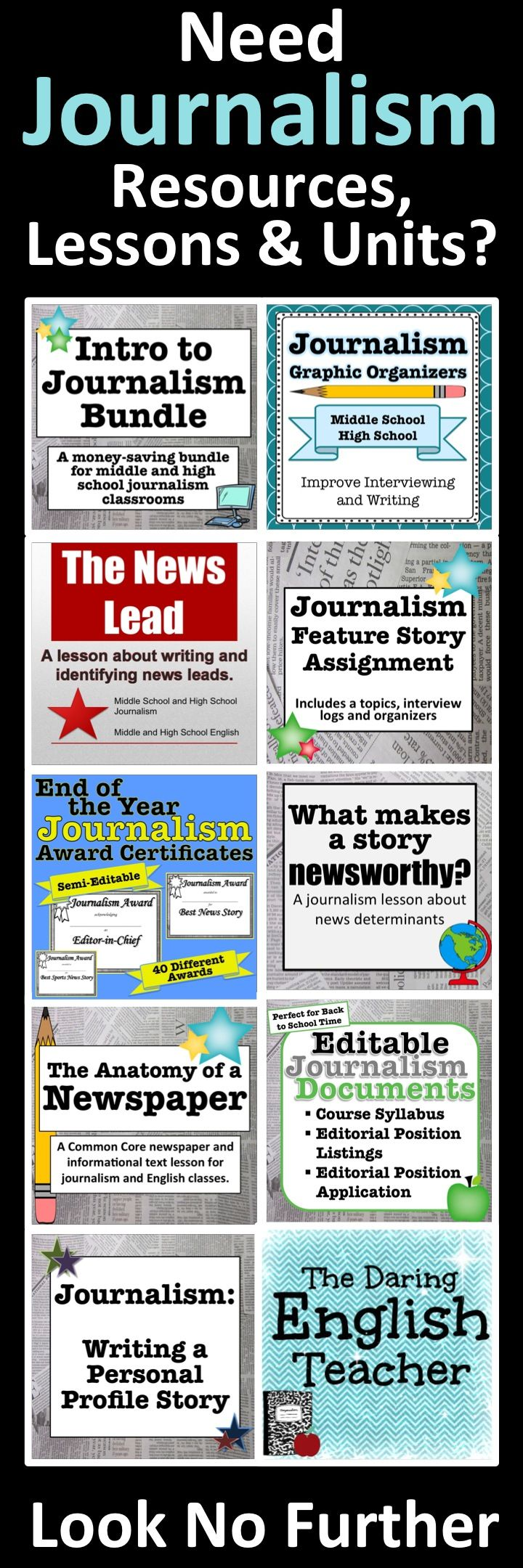 Journalism and yearbook advisors rejoice! Find resources, lessons, and units here.