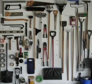 Organize your shed or garage with a pegboard. (Photo by Fiora Casey, Yahoo! Homes Flickr group)