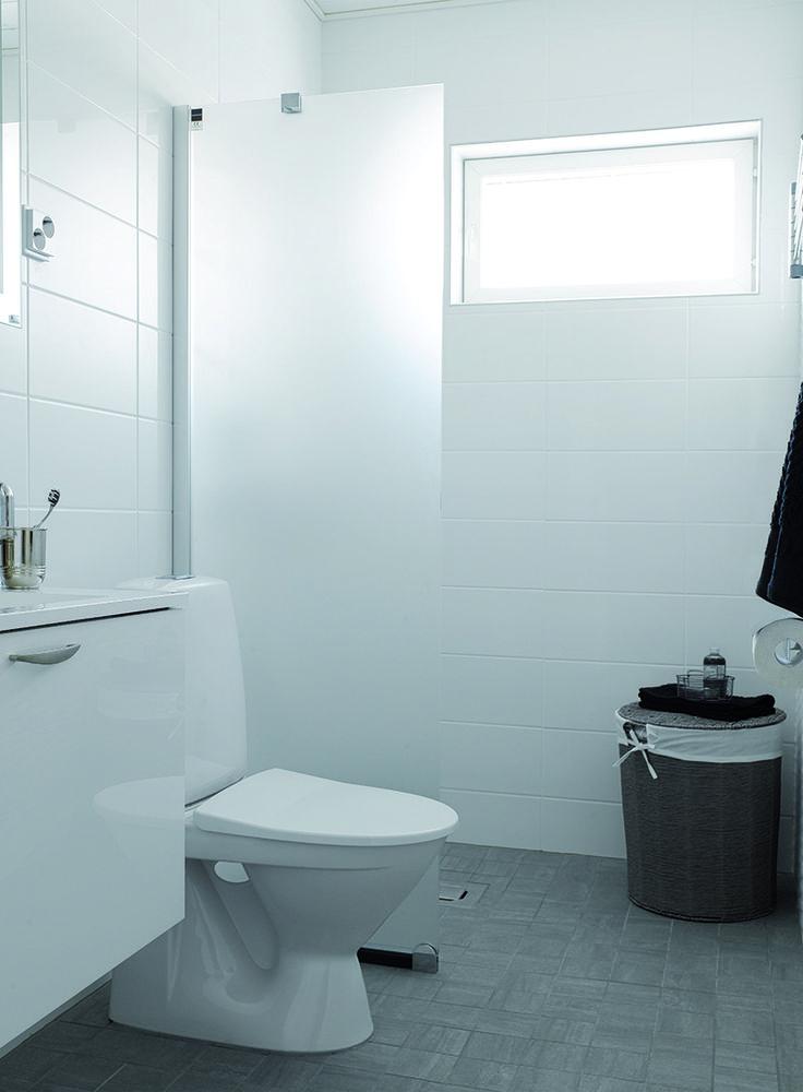 Pukkila Valkoinen, kotimainen seinälaattasarja koossa 20×40 cm, väri valkoinen.