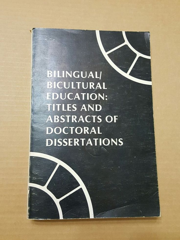 Dissertation abstracts description