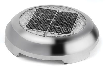 Nycro Solar Vent - has a small solar powered fan to keep boat well ventilated and mold and odour free