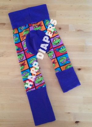 TMNT Maxaloones  - fits 6m-4 or 5 years!! fits perfectly over cloth diapers!! i am in love love love with these pants!