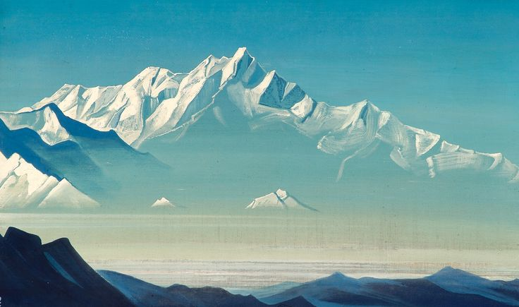 Mount of five treasures (Two worlds) - Nicholas Roerich