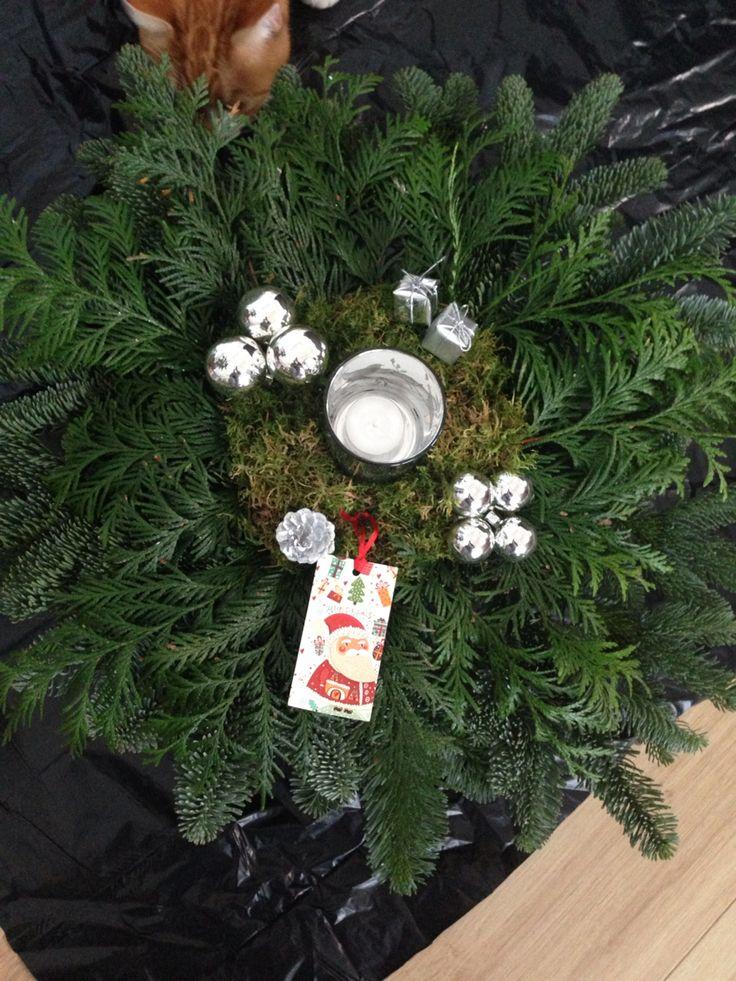 Zilver kerststuk
