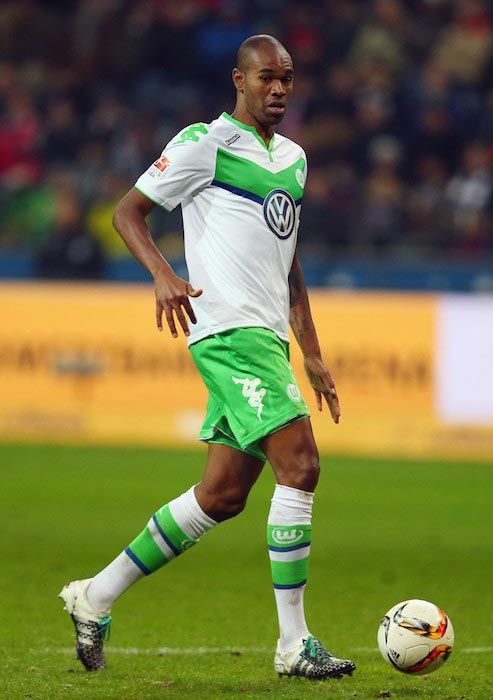 Naldo with the ball during a Bundesliga match between VfL Wolfsburg and Eintracht Frankfurt on January 24, 2016....