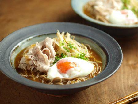 冷やしカレーそば、冷しゃぶ、温玉のっけ|魚料理と簡単レシピ