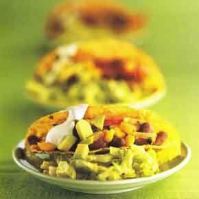Een gezonde vega taco vol groente en met een lekkere avocado chili.