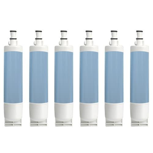Whirlpool ED5GHEXNL02 / GD5SHGXKQ01 Replacement Refrigerator Water Filter by Aqua (Blue) Fresh (6 Pack)