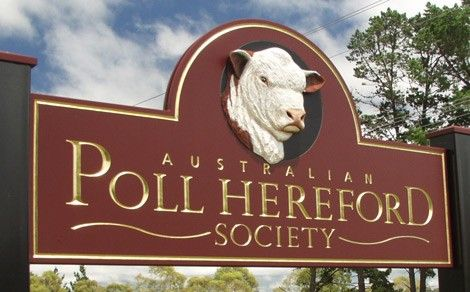 Poll Hereford Club Sign / Danthonia Designs