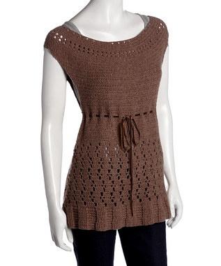 mocha crochet tunic...CUTE