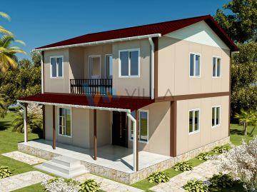131 m² Çift Katlı Prefabrik Ev
