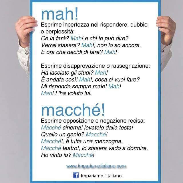 Utilizzo di mah e macché #learnitalian #learningitalian #italianlanguage #grammar #italianlessons #languages #italianteacher #linguaitaliana #idiomas