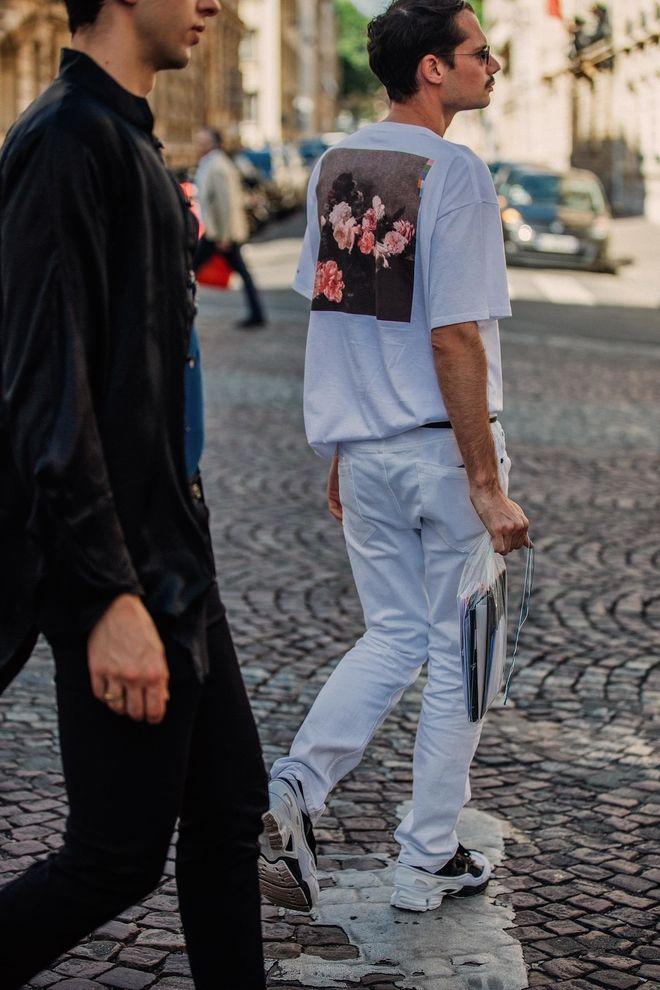 street style look fashion week homme paris printemps ete 2019 tendance mode  81