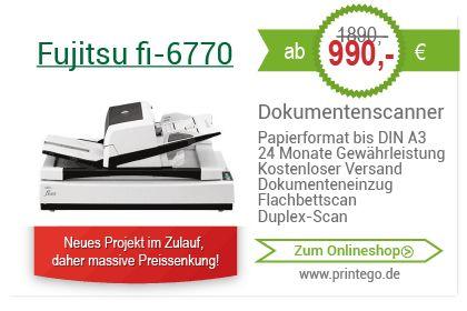 Generaüberholte Dokumentenscanner DIN A3 Fujitsu fi-6770 schon ab 990,00€! Große Auswahl! Zum Onlineshop>