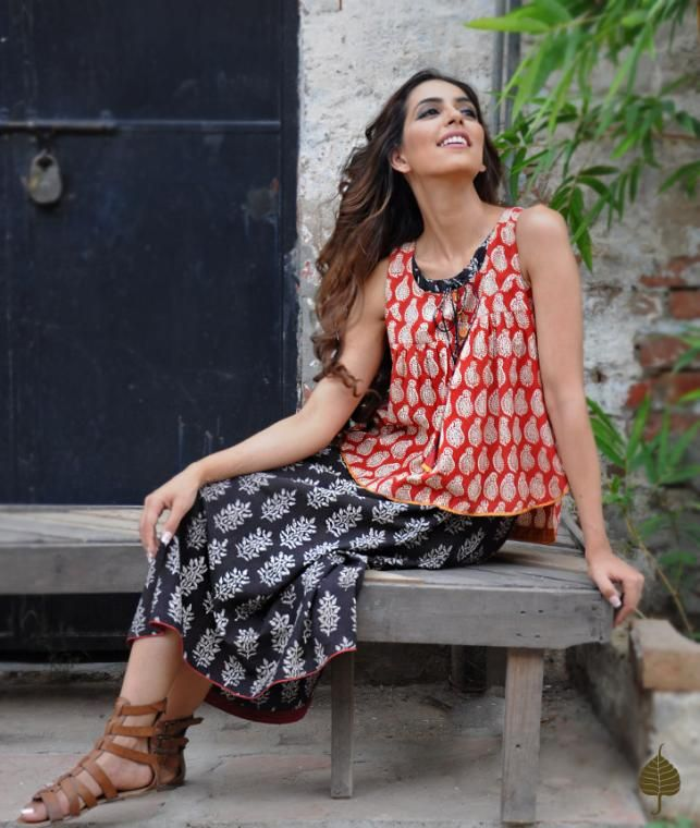 Buy Girl About Town by Jaypore Block-printed dresses, pants, tops and more Online at Jaypore.com