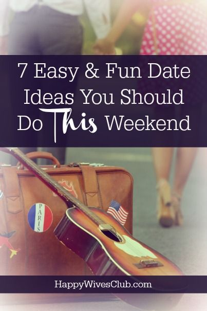 Weekend dating ideas