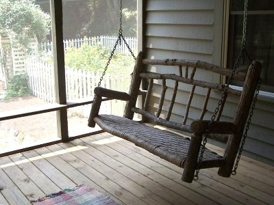 25 best ideas about rustic porch swings on pinterest