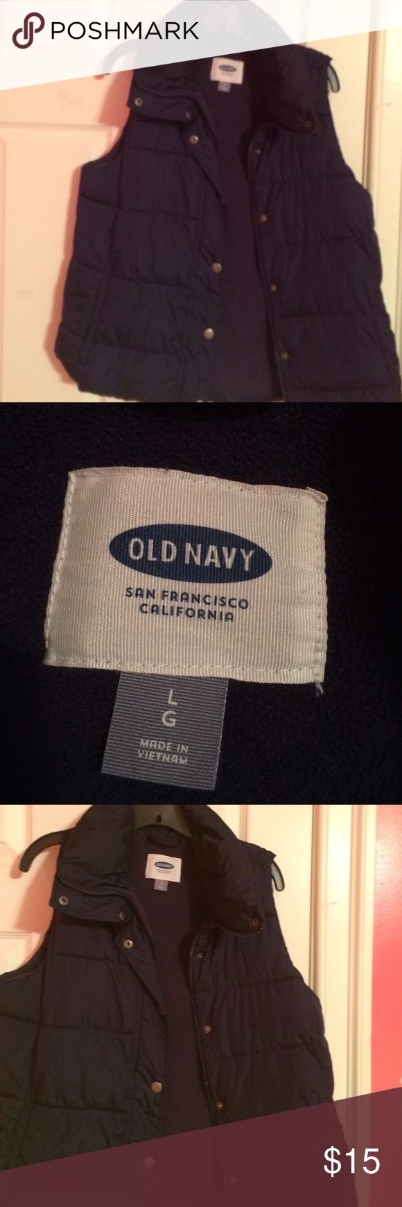Old navy navy blue vest 2 pocket navy blue vest Old Navy Jackets & Coats Vests