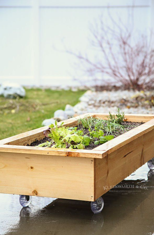 Diy Rolling Planter Box How To Make In 2020 Container 400 x 300