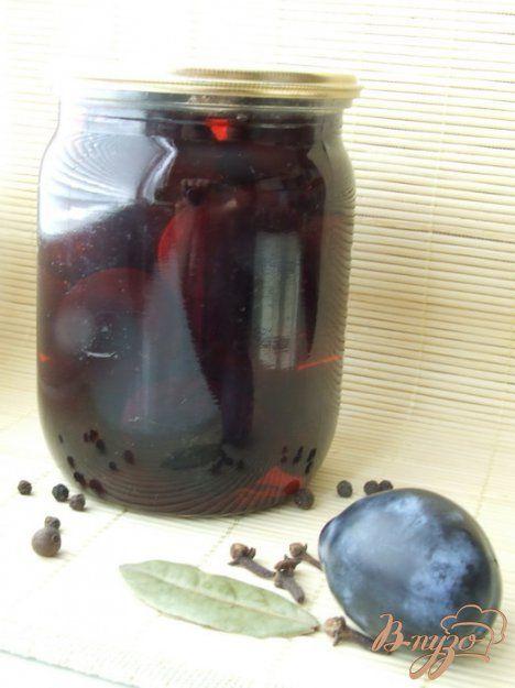 Inlagda kryddiga plommon Маринованные сливы - пошаговый рецепт с фото