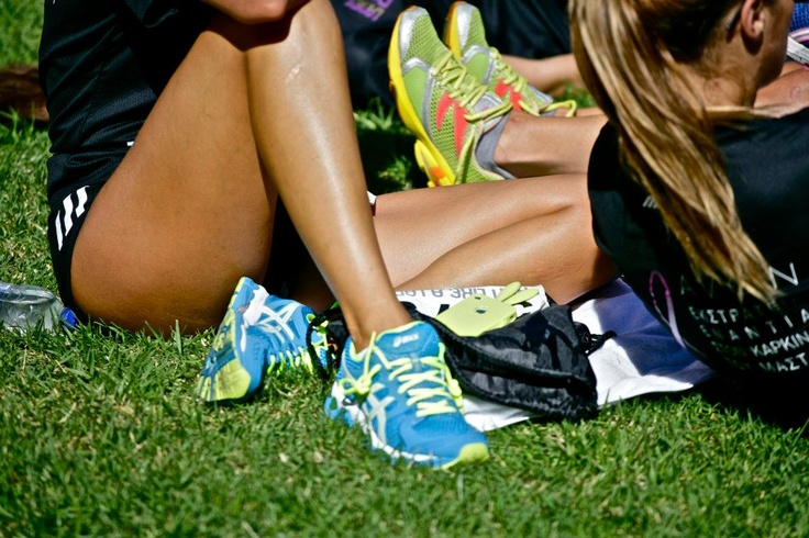 Ladies taking a break #trainers #shoes