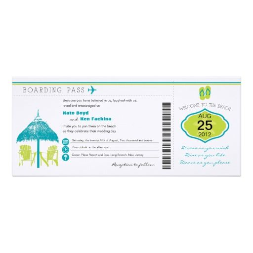 Best Boarding Pass Invite Template Images On