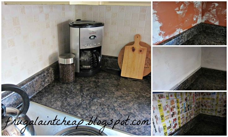 frugal ain 39 t cheap kitchen backsplash great for renters too house idea pinterest. Black Bedroom Furniture Sets. Home Design Ideas