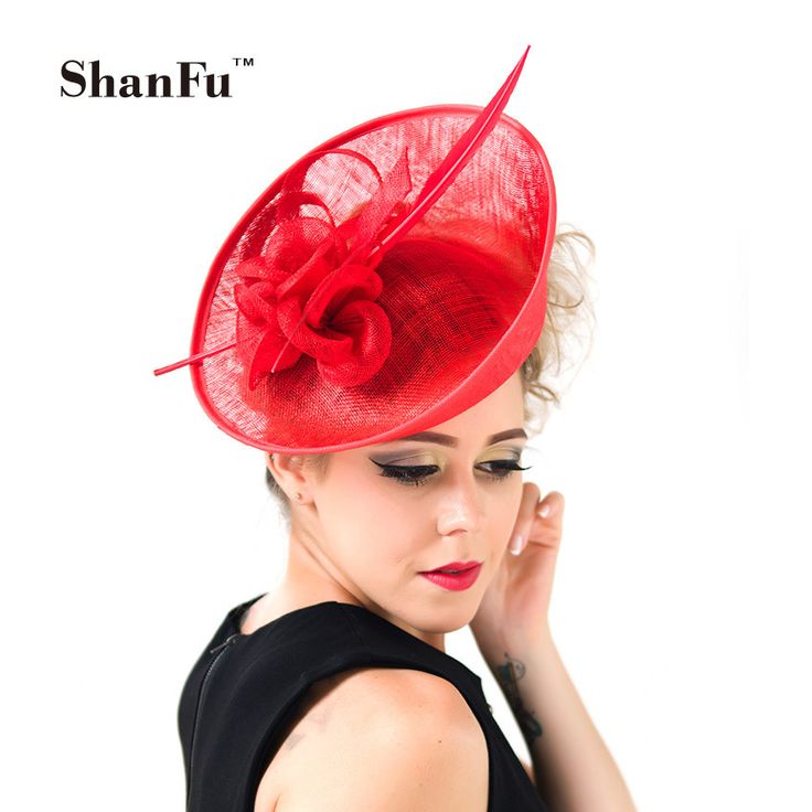 Cheap wedding hats, Buy Quality feather fascinator directly from China wedding fascinator hats Suppliers: ShanFu Lady Fashion Sagittate Feather Fascinator Sinamay Wedding Hat with Headband Elegant Hair Accessories