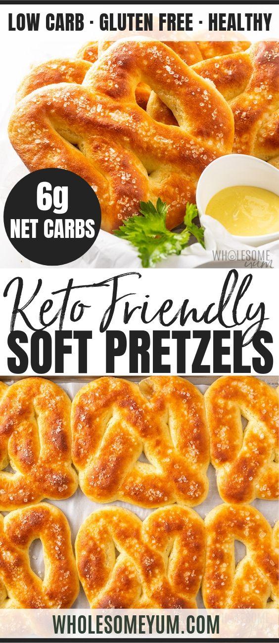Low Carb Gluten-Free Keto Soft Pretzels Recipe