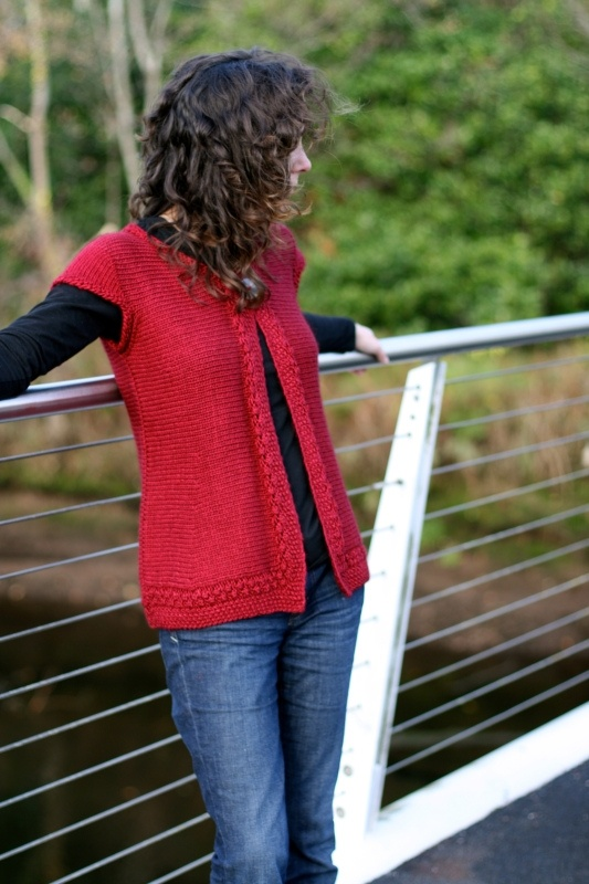 Taupo by Carol Feller is worked up in Scrumptious Chunky in the Cherry Red  colourway and features in Scrumptious Knits, an exclusive collaboration  between ... f83d93298a6