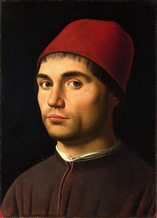 Antonello da Messina:   Portrait of a man  (1475/76)