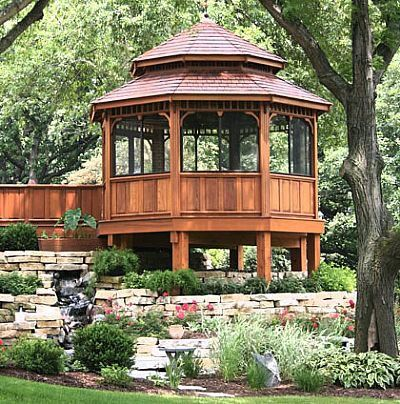 1000 images about gazebo hot tub ideas on pinterest for Deck with gazebo
