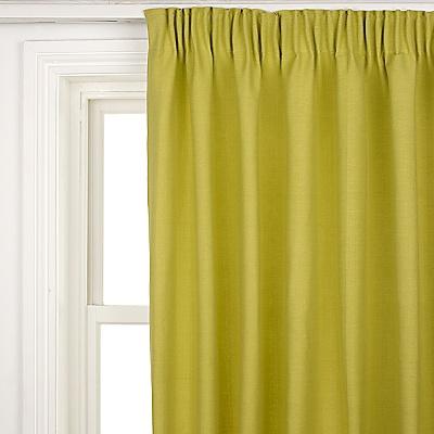 Buy John Lewis Cotton Rib Pencil Pleat Curtains, Fennel online at JohnLewis.com - John Lewis