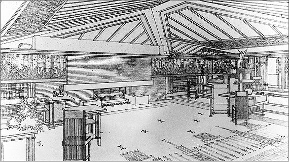 310 Best Images About FLW Sketches On Pinterest House