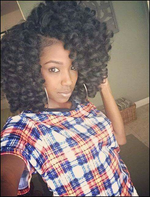 Big Curly Crochet Braids Hairstyle