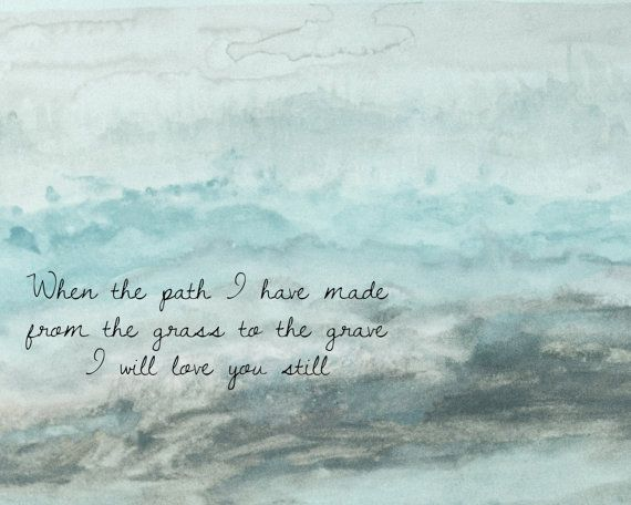 Love You Still Dashboard Confessional Watercolor by AwakeYourSoul, $14.00