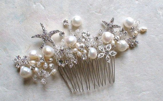 Starfish Bridal Hair Comb. Starfish hair by ShesAccessories