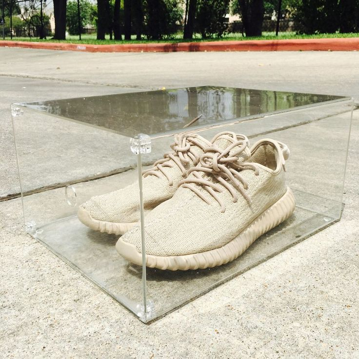 Introducing SneakerC 100% Clear Acrylic Sneaker Display Box. Magnet Drop Front Door Style. This is the first version of the Magnet Drop Front Style Display Box, the Magnetic door is not 100% smooth when taking it off and put it back up. | eBay!